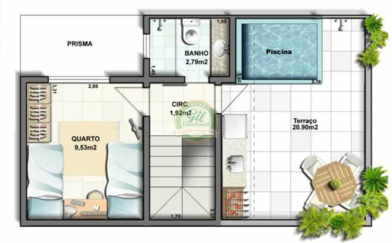 13 - Casa em Condominio Tanque,Rio de Janeiro,RJ À Venda,3 Quartos,120m² - CS1877 - 15