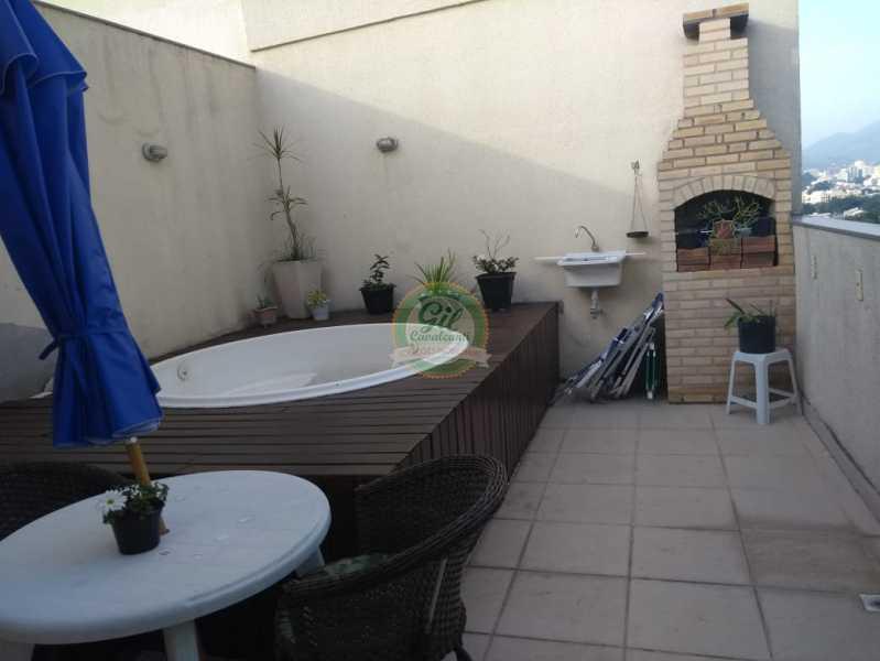 Piscina e churrasqueira - Cobertura 2 quartos à venda Taquara, Rio de Janeiro - R$ 380.000 - CB0194 - 1