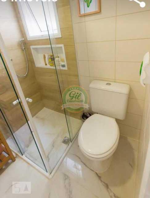 Banheiro 1. - Cobertura 3 quartos à venda Taquara, Rio de Janeiro - R$ 520.000 - CB0221 - 17