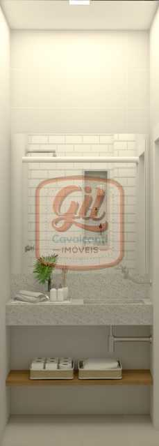 ap2172-BANHEIRO SERV 03 - Apartamento 2 quartos à venda Copacabana, Rio de Janeiro - R$ 849.000 - AP2172 - 13