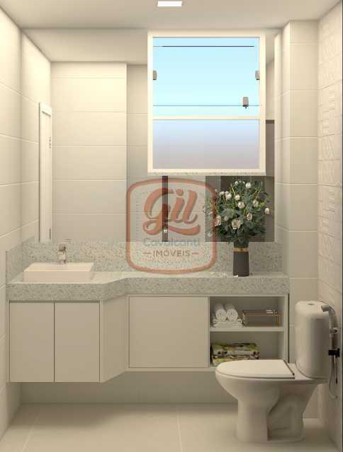 ap2172BANHEIRO SOCIAL 01 - Apartamento 2 quartos à venda Copacabana, Rio de Janeiro - R$ 849.000 - AP2172 - 14