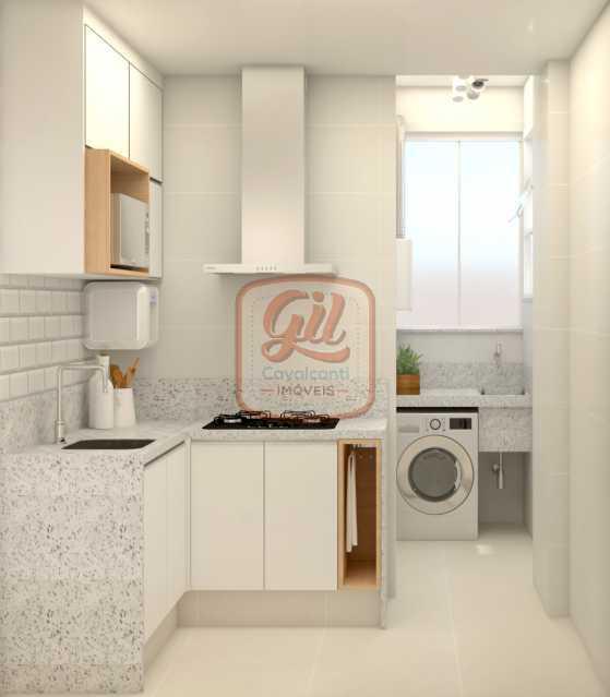 ap2172COZINHA 02 - Apartamento 2 quartos à venda Copacabana, Rio de Janeiro - R$ 849.000 - AP2172 - 9