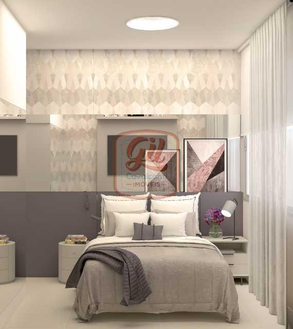 ap2172-QUARTO 01 - Apartamento 2 quartos à venda Copacabana, Rio de Janeiro - R$ 849.000 - AP2172 - 17