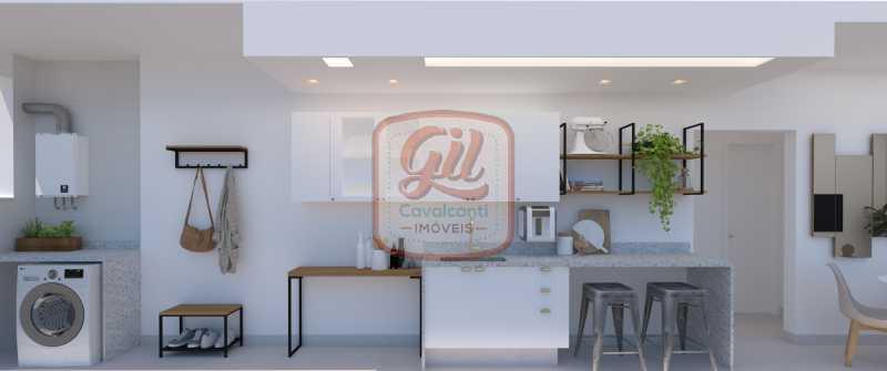 COZINHA E ÁREA 1 - Apartamento 2 quartos à venda Copacabana, Rio de Janeiro - R$ 749.000 - AP2296 - 5