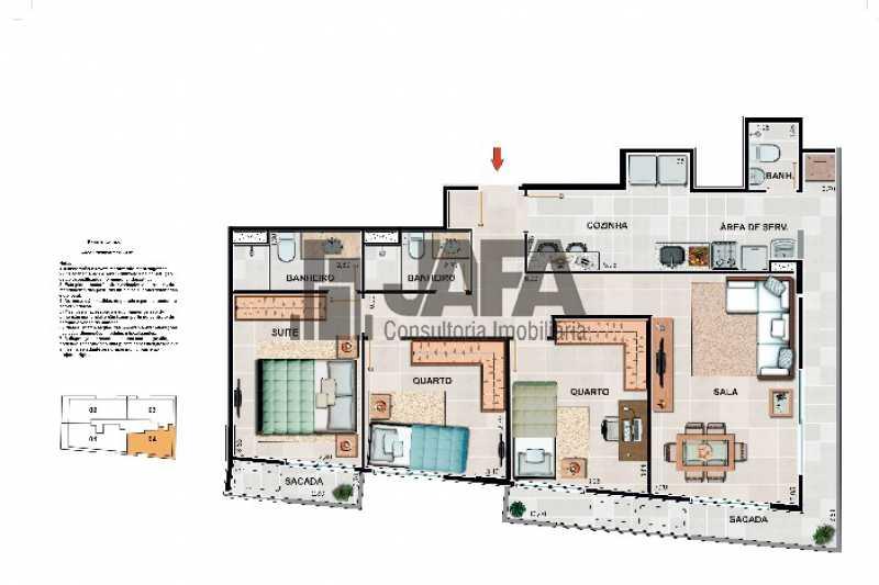Sem título - Apartamento Botafogo,Rio de Janeiro,RJ À Venda,3 Quartos,98m² - JA31409 - 29