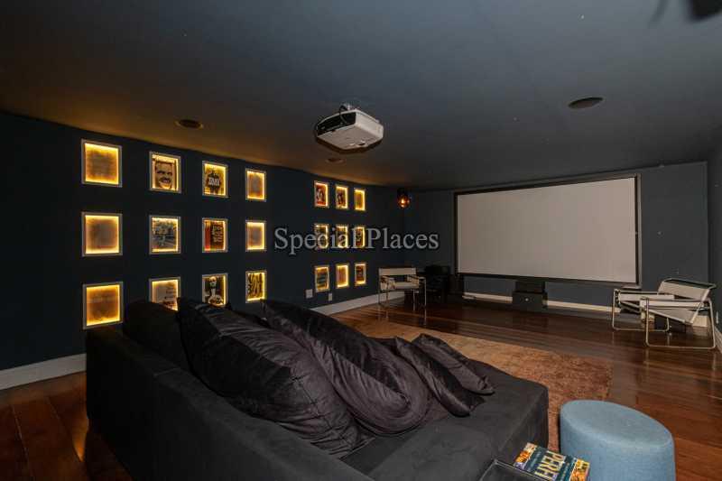 SALA DE CINEMA - Casa em Condomínio 4 quartos à venda Itanhangá, Rio de Janeiro - R$ 5.200.000 - BAC3858 - 24