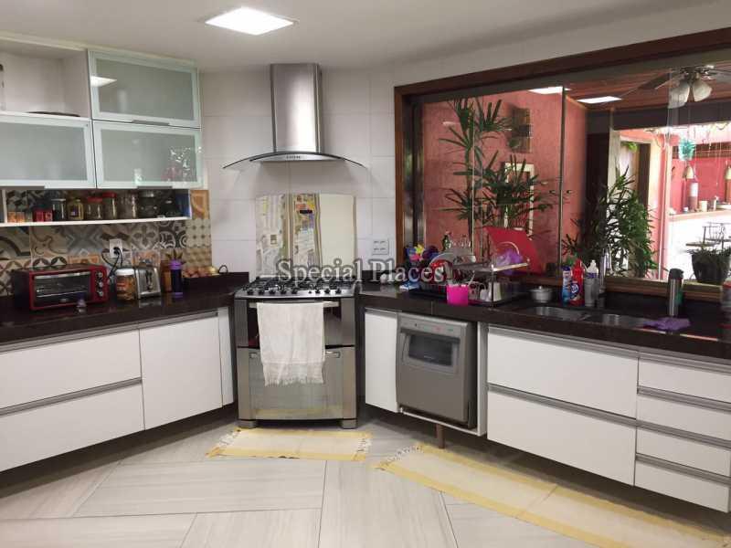 Cozinha - Casa em Condomínio 5 quartos para alugar Recreio dos Bandeirantes, Rio de Janeiro - LOC1076 - 15