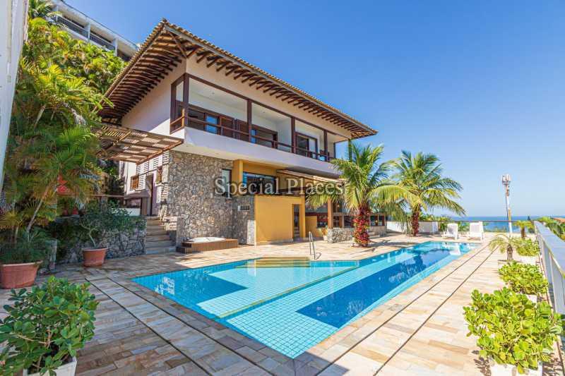 FACHADA  - Casa em Condomínio 4 quartos à venda Joá, Rio de Janeiro - R$ 7.800.000 - BAC6210 - 1