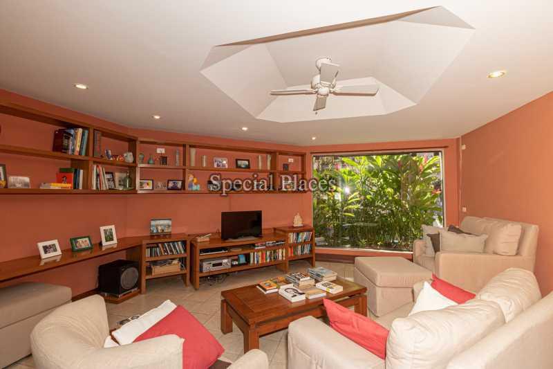 SALA TV  - Casa em Condomínio 4 quartos à venda Joá, Rio de Janeiro - R$ 7.800.000 - BAC6210 - 16