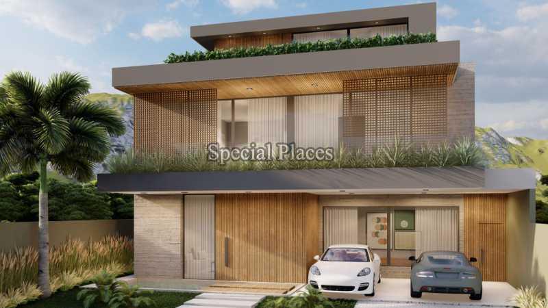 FACHADA  - Casa em Condomínio 5 quartos à venda Barra da Tijuca, Rio de Janeiro - R$ 8.500.000 - BAC6219 - 1