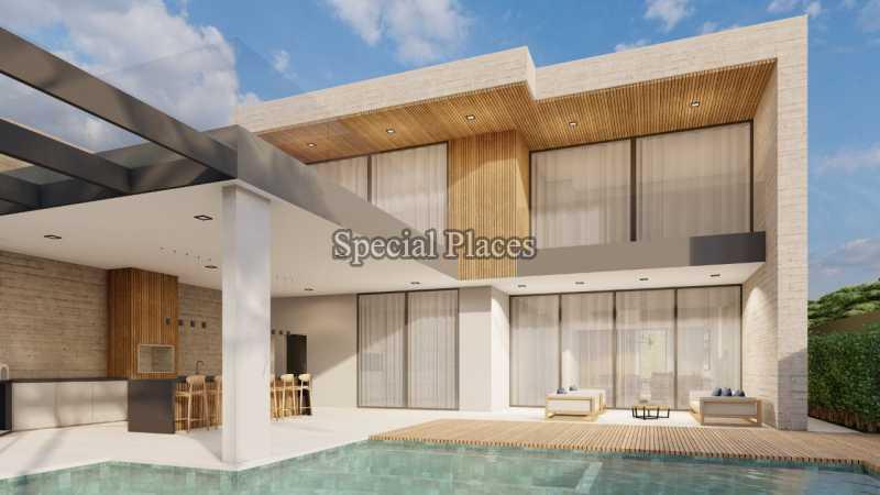 FACHADA COM PISCINA  - Casa em Condomínio 5 quartos à venda Barra da Tijuca, Rio de Janeiro - R$ 8.500.000 - BAC6219 - 9