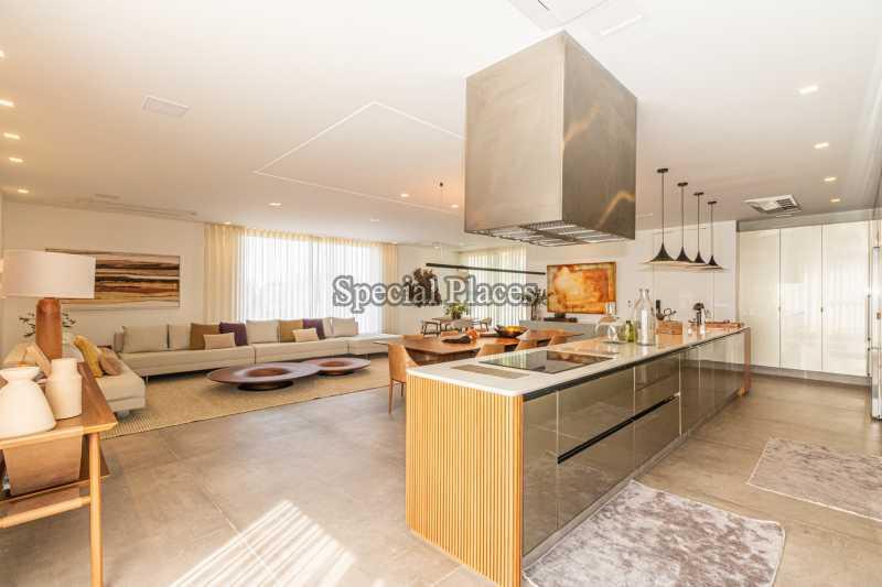 SALA E COZINHA  - Casa em Condomínio 4 quartos à venda Barra da Tijuca, Rio de Janeiro - R$ 7.500.000 - BAC6233 - 17