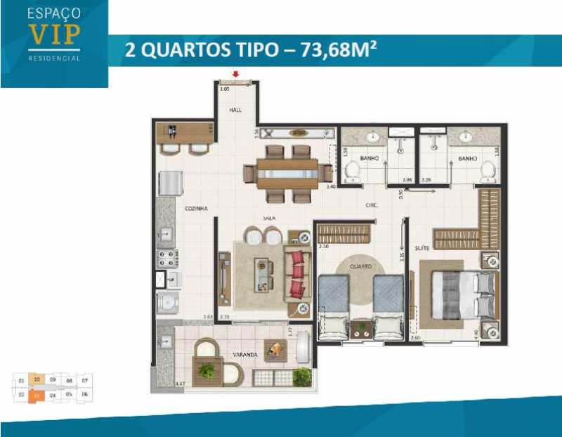 plantas 3 - Fachada - Espaço Vip Residencial - 1002 - 24