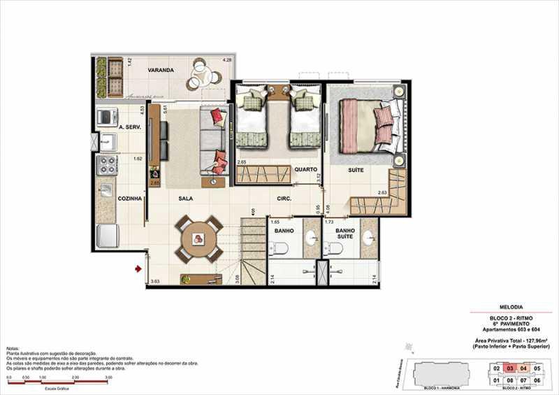 PLANTA COBERTURAS 3 - Fachada - Melodia Condomínio e Lazer - 969 - 23