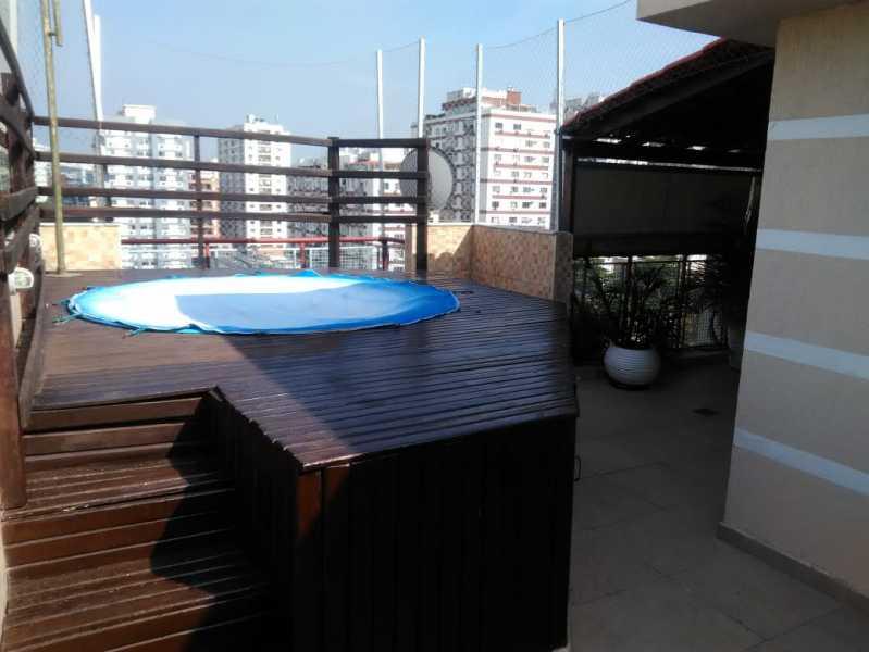 25 - TERRAÇO COM PISCINA. - Cobertura Cachambi,Rio de Janeiro,RJ À Venda,2 Quartos,165m² - MECO20017 - 19