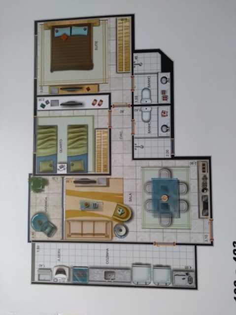 planta - Apartamento À VENDA, Freguesia (Jacarepaguá), Rio de Janeiro, RJ - FRAP21107 - 19