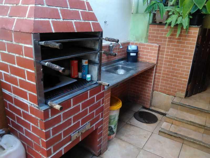 4 - churrasqueira. - Casa À Venda - Riachuelo - Rio de Janeiro - RJ - MECA30024 - 5