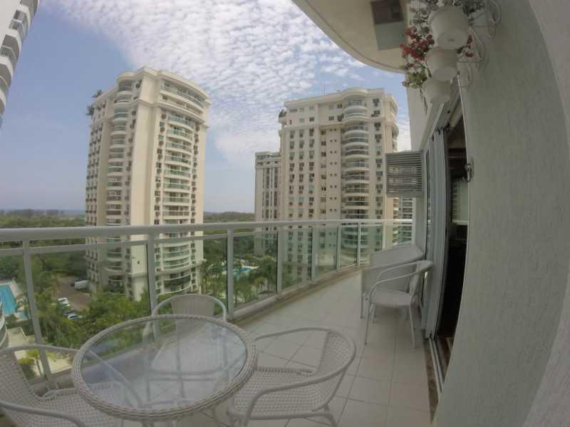 1 - VARANDA. - Apartamento Barra da Tijuca,Rio de Janeiro,RJ À Venda,3 Quartos,119m² - FRAP30548 - 1
