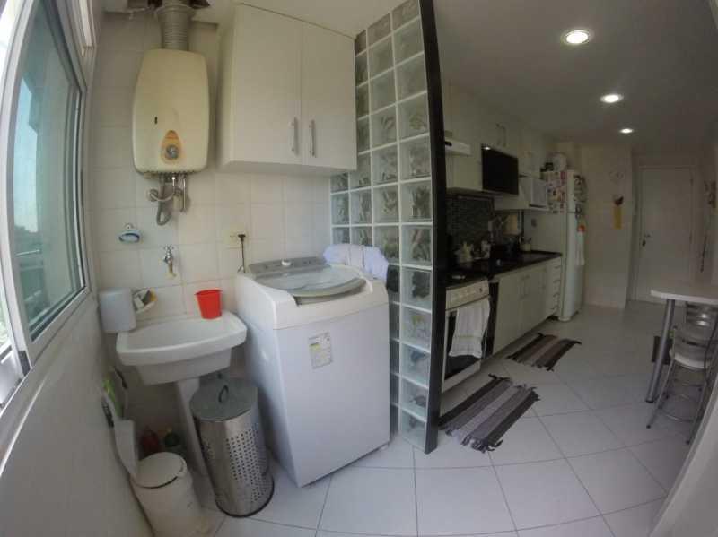 9 - ÁREA DE SERVIÇO. - Apartamento Barra da Tijuca,Rio de Janeiro,RJ À Venda,3 Quartos,119m² - FRAP30548 - 10