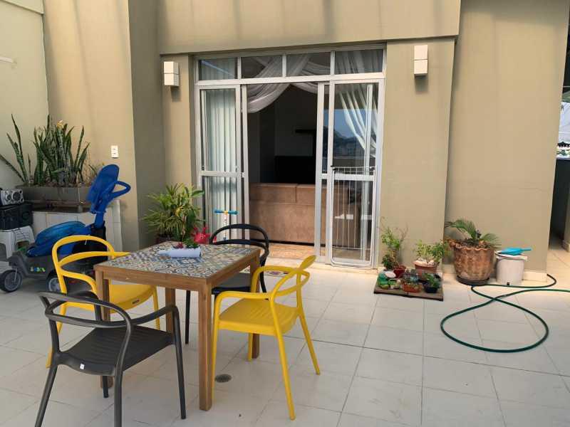 terraço. - Cobertura Praça Seca, Rio de Janeiro, RJ À Venda, 2 Quartos, 105m² - FRCO20050 - 19