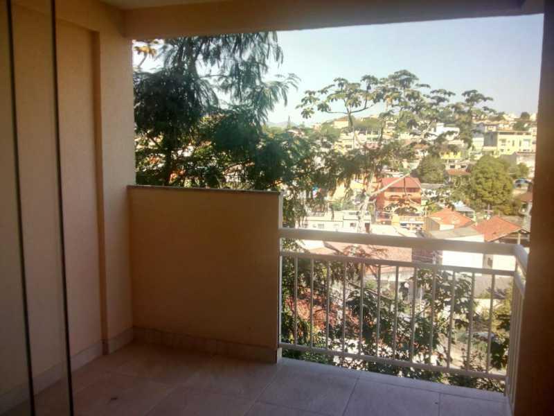 varanda da suite - Casa em Condomínio 3 quartos à venda Pechincha, Rio de Janeiro - R$ 680.000 - FRCN30154 - 15