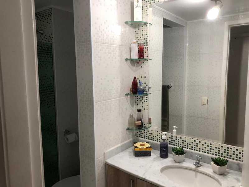 8 - BANHEIRO SOCIAL. - Apartamento À Venda - Cachambi - Rio de Janeiro - RJ - MEAP20965 - 14