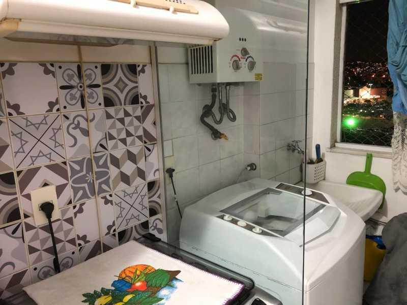 17 - ÁREA DE SERVIÇO. - Apartamento À Venda - Cachambi - Rio de Janeiro - RJ - MEAP20965 - 18