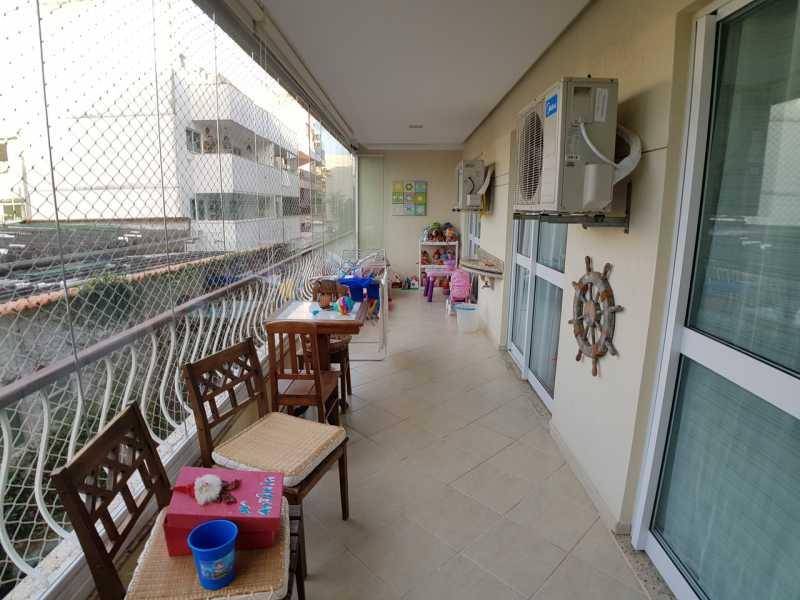1 - VARANDÃO. - Apartamento Recreio dos Bandeirantes,Rio de Janeiro,RJ À Venda,3 Quartos,98m² - FRAP30602 - 1