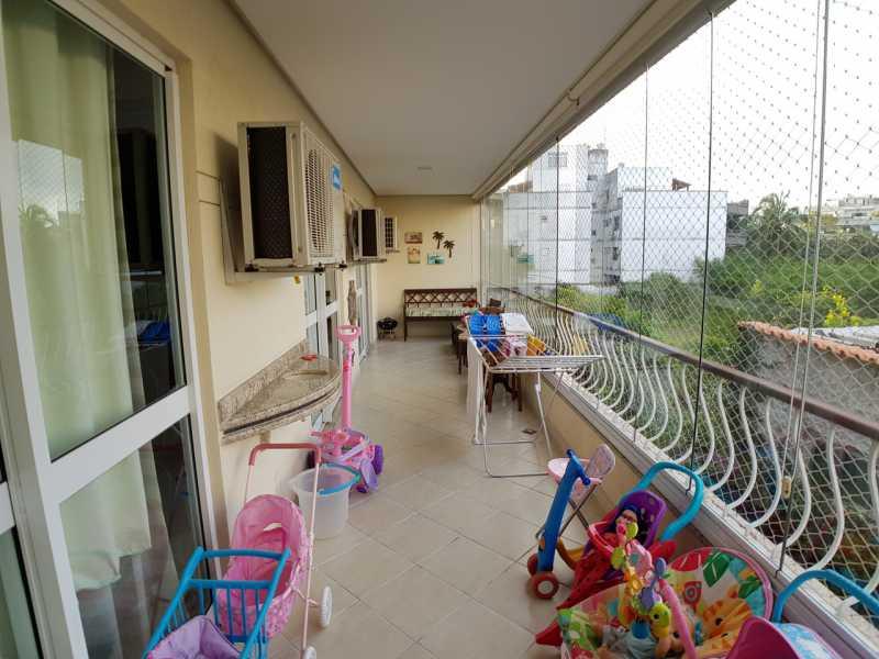 2 - VARANDÃO. - Apartamento Recreio dos Bandeirantes,Rio de Janeiro,RJ À Venda,3 Quartos,98m² - FRAP30602 - 3