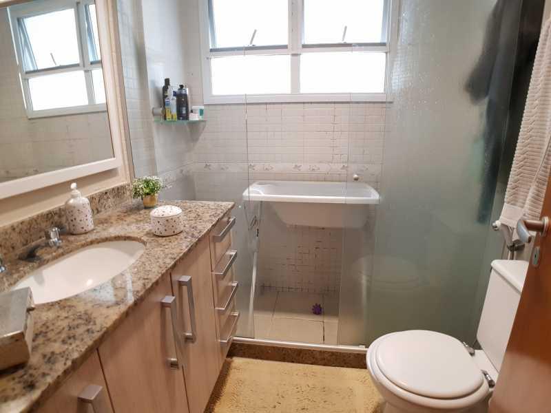 9 - BANHEIRO SOCIAL. - Apartamento Recreio dos Bandeirantes,Rio de Janeiro,RJ À Venda,3 Quartos,98m² - FRAP30602 - 10