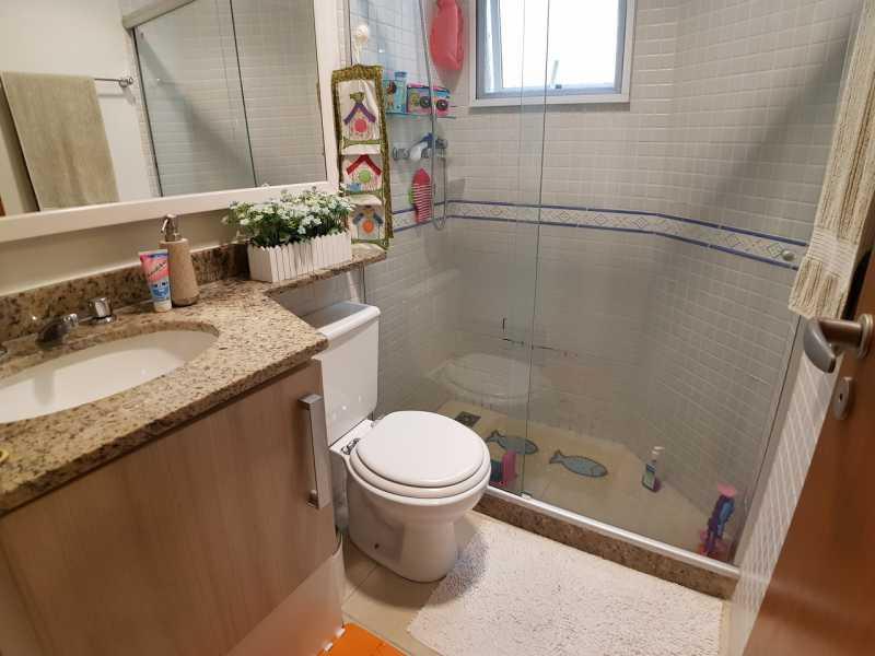 13 - BANHEIRO SUÍTE. - Apartamento Recreio dos Bandeirantes,Rio de Janeiro,RJ À Venda,3 Quartos,98m² - FRAP30602 - 14