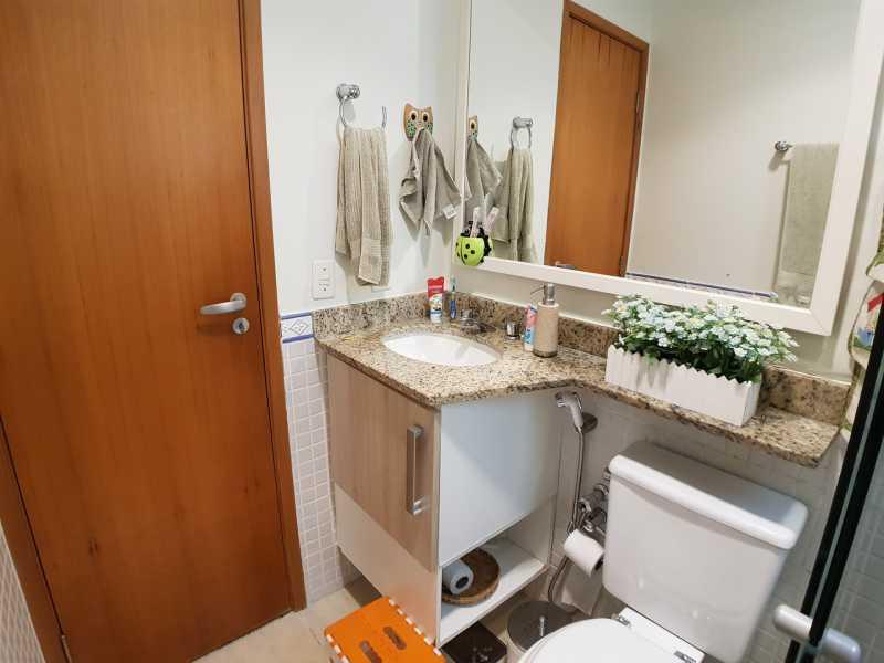 14 - BANHEIRO SUÍTE. - Apartamento Recreio dos Bandeirantes,Rio de Janeiro,RJ À Venda,3 Quartos,98m² - FRAP30602 - 15