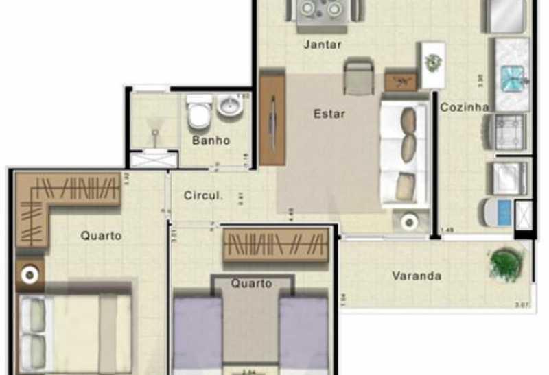 22 - Apartamento 2 quartos à venda Curicica, Rio de Janeiro - R$ 279.000 - FRAP21652 - 23
