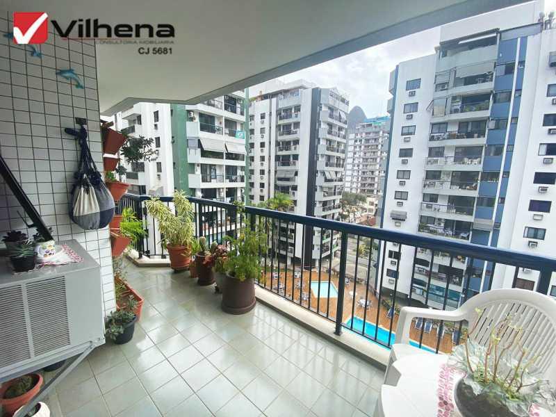 VARANDÃO - Apartamento 3 quartos à venda Grajaú, Rio de Janeiro - R$ 850.000 - FRAP30750 - 4