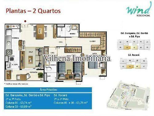 FOTO13 - Apartamento Estrada dos Bandeirantes,Camorim,Rio de Janeiro,RJ À Venda,2 Quartos,63m² - PA22603 - 13