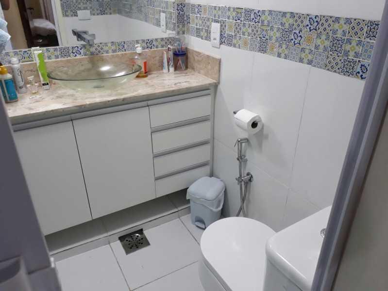 21 - banheiro social. - Apartamento Méier, Rio de Janeiro, RJ Para Alugar, 2 Quartos, 61m² - MEAP20478 - 15