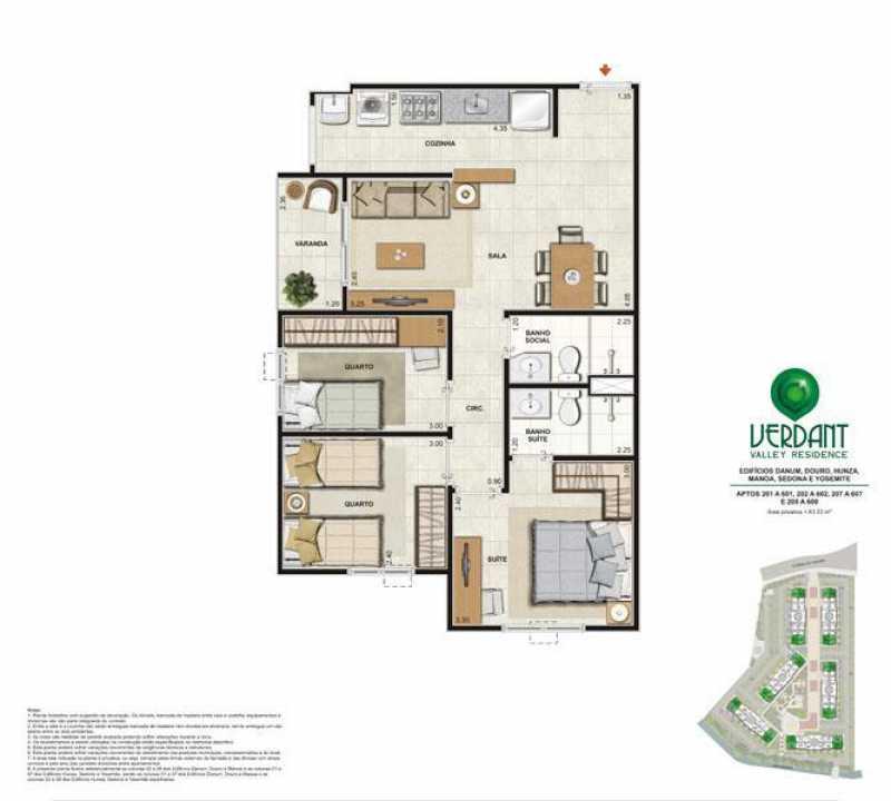 PLANTA 3 QUARTOS 63 M - Apartamento Camorim,Rio de Janeiro,RJ À Venda,2 Quartos,51m² - FRAP20820 - 26