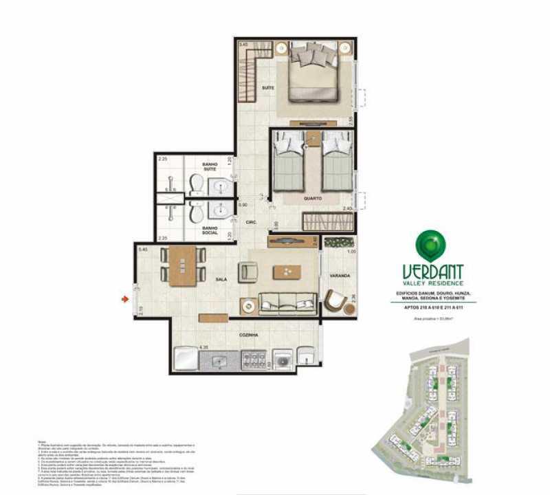 PLANTA 2 QUARTOS 53 M - Apartamento Camorim,Rio de Janeiro,RJ À Venda,3 Quartos,63m² - FRAP30328 - 25