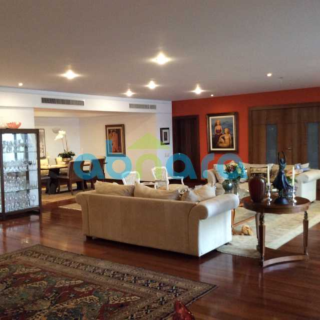 sala com jantar - Apartamento para alugar Avenida Epitácio Pessoa,Lagoa, Rio de Janeiro - R$ 25.000 - CPAP30422 - 3