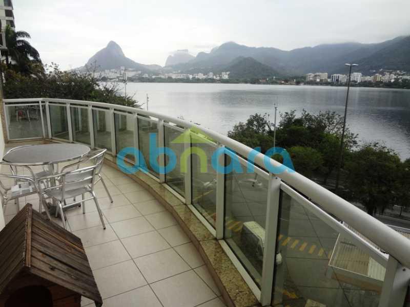 2 - Apartamento Lagoa, Rio de Janeiro, RJ À Venda, 3 Quartos, 129m² - CPAP30599 - 3