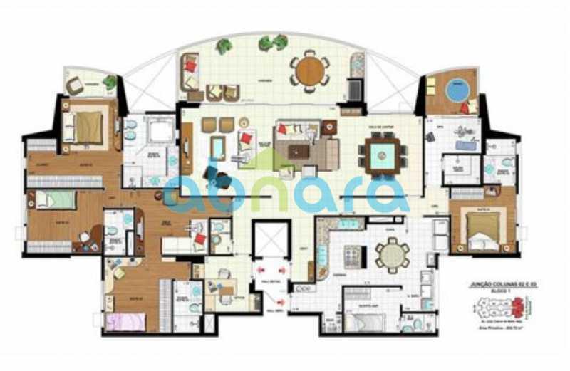 Planta - 4 Suites na Peninsula 4 Vagas - 273 m2 - CPAP40287 - 31