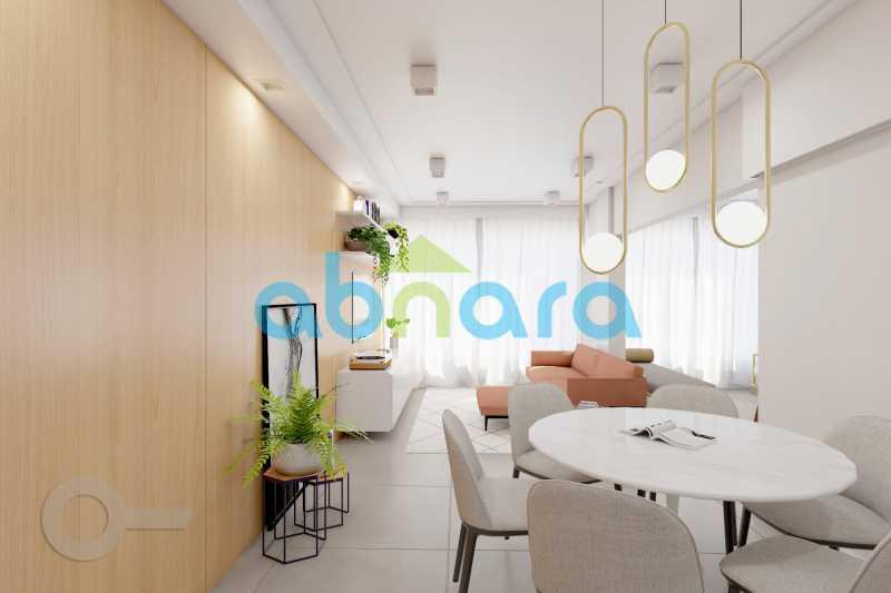 Sala Ambiente de Jantar - 2 Quartos, Leblon, Reformado, Praia, Metrô - CPAP20520 - 3
