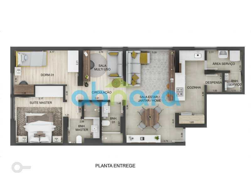 Planta - Leblon, Imperdível, 2 Quartos, Reformado - CPAP20523 - 10