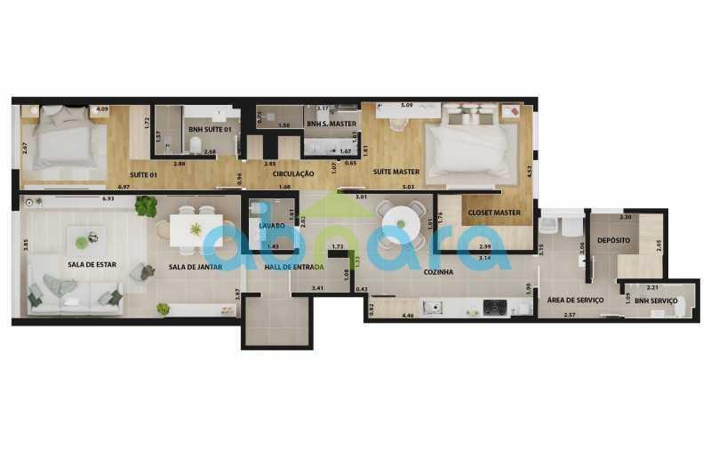 Planta - Apartamento À venda em Ipanema, com 2 quartos, 126 m² - CPAP20526 - 10