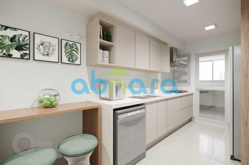 Cozinha 1 - Apartamento À venda em Leblon, com 3 quartos, 153 m² - CPAP30816 - 5