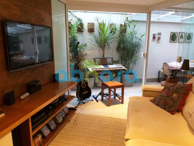 foto 1 - Sensacional apartamento de 133 m² na Lagoa com 3 quartos sendo 2 suítes 2 vagas na escritura em um prédio de 2018. - CPAP30864 - 1
