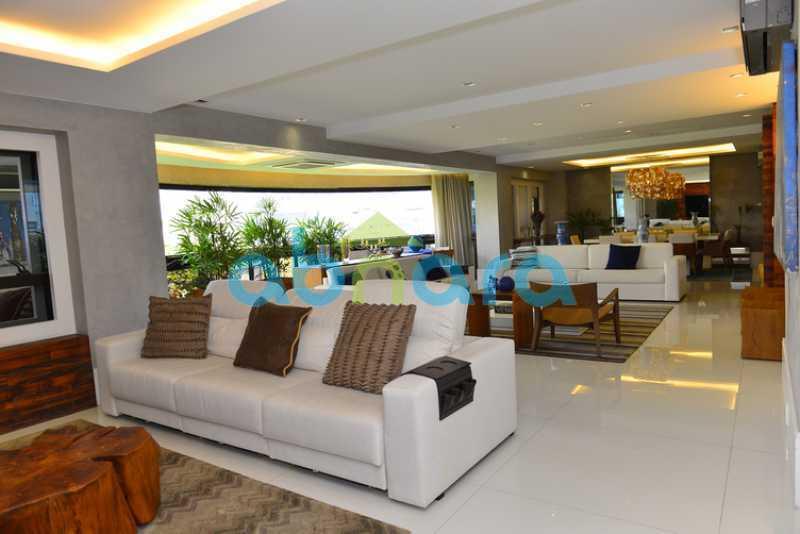 6 - luxo, luxuosa, cobertura Duplex, 1 por andar, Alto padrão, Leblon - CPCO40117 - 7