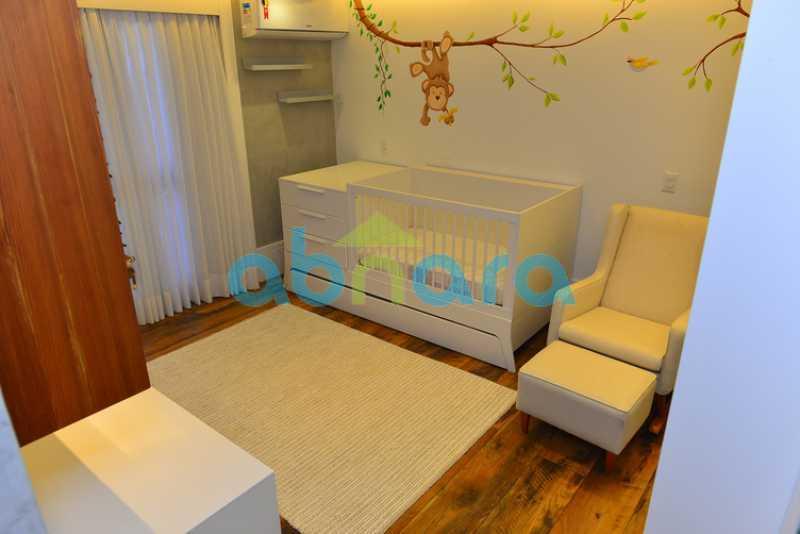 14 - luxo, luxuosa, cobertura Duplex, 1 por andar, Alto padrão, Leblon - CPCO40117 - 14
