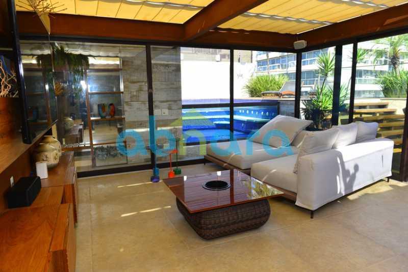 33 - luxo, luxuosa, cobertura Duplex, 1 por andar, Alto padrão, Leblon - CPCO40117 - 30
