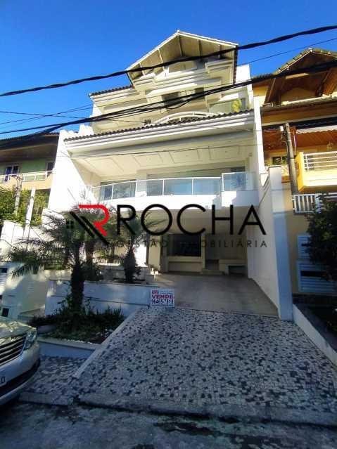Fachada - Valqueire, CASA Triplex, 4 suites, piscina, quintal - VLCN40020 - 1